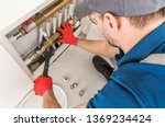 plumbing system fix job.... | Shutterstock . vector #1369234424