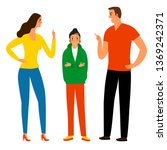 family conflict. angry parents... | Shutterstock .eps vector #1369242371