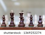 wooden chess figurines on a...   Shutterstock . vector #1369252274