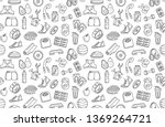 vector illustration black and... | Shutterstock .eps vector #1369264721
