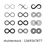 infinity symbol big set.... | Shutterstock .eps vector #1369267877