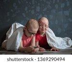 caucasian children in pink t... | Shutterstock . vector #1369290494