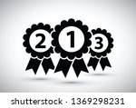 black top three medals | Shutterstock .eps vector #1369298231