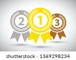 top three medals | Shutterstock .eps vector #1369298234