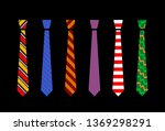 colourful tie set | Shutterstock .eps vector #1369298291