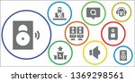 debate icon set. 9 filled... | Shutterstock .eps vector #1369298561