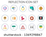 reflection icon set. 15 flat... | Shutterstock .eps vector #1369298867