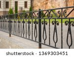 Forged Iron Fence Around The...