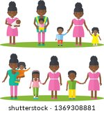 african american mother with... | Shutterstock .eps vector #1369308881