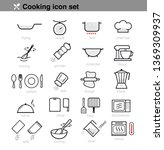 cooking preparation icon set.... | Shutterstock .eps vector #1369309937