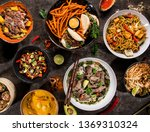 asian food background with... | Shutterstock . vector #1369310324