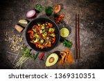 szechuan beef asian food... | Shutterstock . vector #1369310351