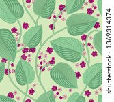 floral seamless pattern. leaves ... | Shutterstock .eps vector #1369314374