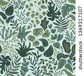 greenery seamless pattern in... | Shutterstock .eps vector #1369317107