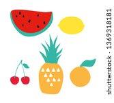 vector set of fruits.... | Shutterstock .eps vector #1369318181