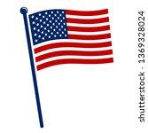 classic american flag. | Shutterstock .eps vector #1369328024