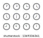 clock icon set. office clock... | Shutterstock .eps vector #1369336361