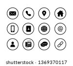 set of contact icons. isolated...   Shutterstock .eps vector #1369370117
