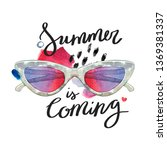 summer is coming. hand...   Shutterstock . vector #1369381337