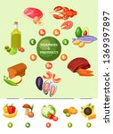 vitamines and products. vector... | Shutterstock .eps vector #1369397897