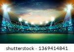 lights at night and stadium 3d... | Shutterstock . vector #1369414841