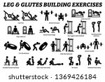 legs and glutes building... | Shutterstock .eps vector #1369426184