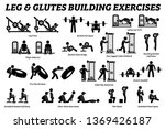 legs and glutes building... | Shutterstock . vector #1369426187