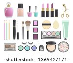 beauty products and cosmetics ... | Shutterstock .eps vector #1369427171
