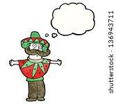 cartoon man in mexican costume | Shutterstock . vector #136943711