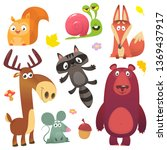 Cartoon Forest Animals Set....