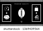 american football ball icon....   Shutterstock .eps vector #1369439564