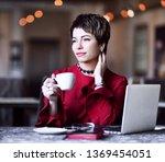 successful business woman...   Shutterstock . vector #1369454051
