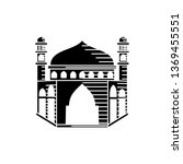 mosque icon vector illustration ... | Shutterstock .eps vector #1369455551