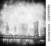 Grunge Image Of Manhattan...
