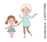 young mom holds his little... | Shutterstock .eps vector #1369472984