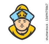 kazakh man in historical... | Shutterstock . vector #1369475867