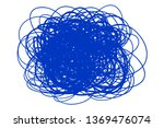 colorful tangle shape on white. ... | Shutterstock .eps vector #1369476074