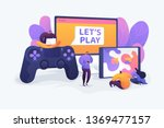 cross platform play  cross play ... | Shutterstock .eps vector #1369477157