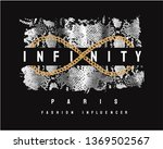 Infinity Slogan With Golden...