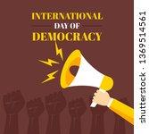 international day of democracy... | Shutterstock .eps vector #1369514561