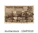 Postage stamp from Italy dated 1950 - stock photo