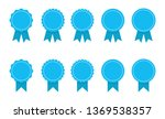blue ribbon and banner. set of... | Shutterstock .eps vector #1369538357