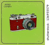 vector illustration of an retro ... | Shutterstock .eps vector #136955579