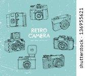 vector illustration  a set of... | Shutterstock .eps vector #136955621