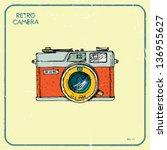 vector illustration of an retro ... | Shutterstock .eps vector #136955627