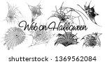 cobweb set isolated on grunge... | Shutterstock .eps vector #1369562084