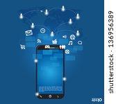 mobile phones technology... | Shutterstock .eps vector #136956389