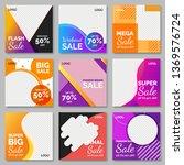 fashion sale for social media... | Shutterstock .eps vector #1369576724