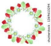 strawberry  strawberries leaf... | Shutterstock . vector #1369613294