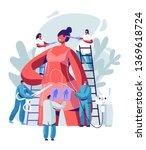 woman preparing for plastic... | Shutterstock .eps vector #1369618724